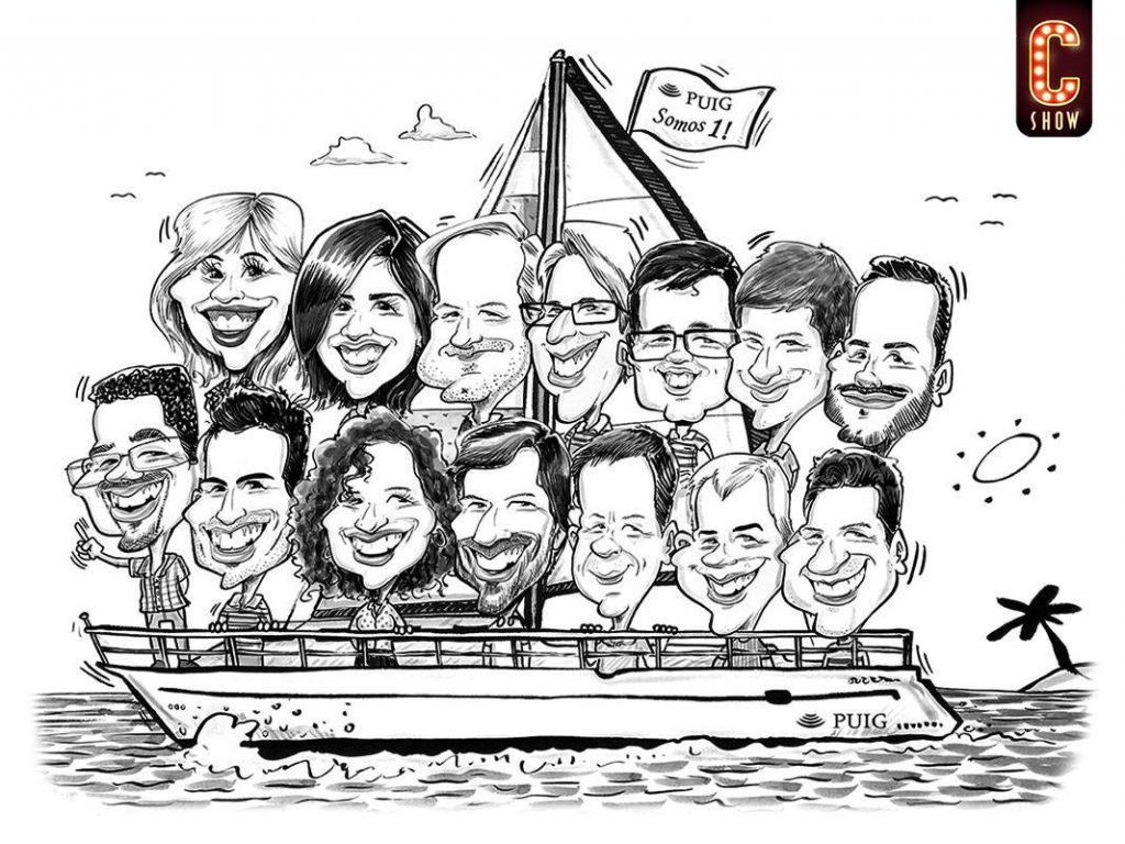 caricatura grupo como regalo corporativo personalizado empresa