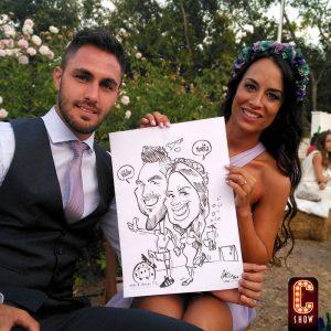 Caricaturas bodas en Marbella