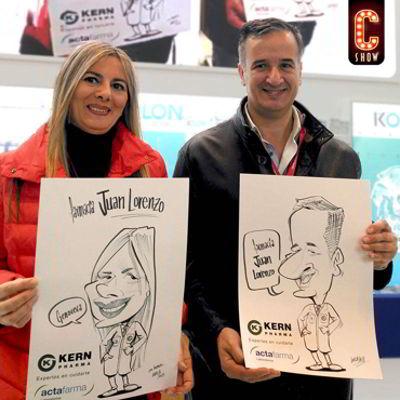 Caricaturas en feria Ifarma Madrid