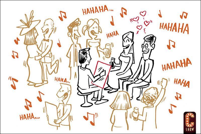 Show de caricatures para fiestas