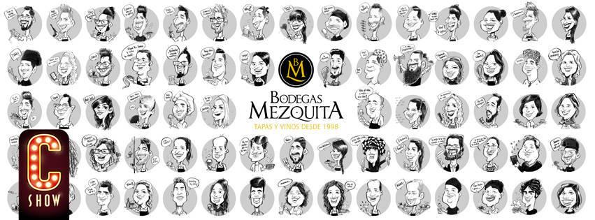 Orla caricatura equipo empresa bodegas mezquita team building