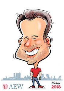 digital caricature in colour