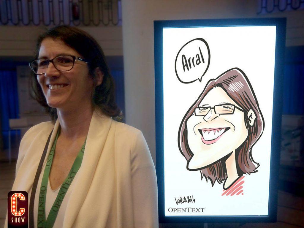 Caricatura digital para eventos