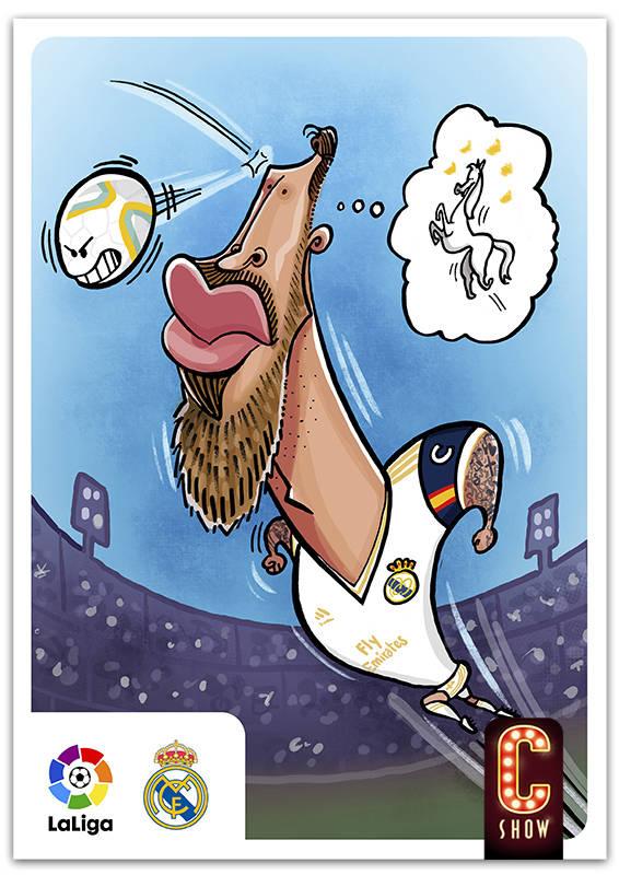 Caricatura de Sergio Ramos del Real Madrid