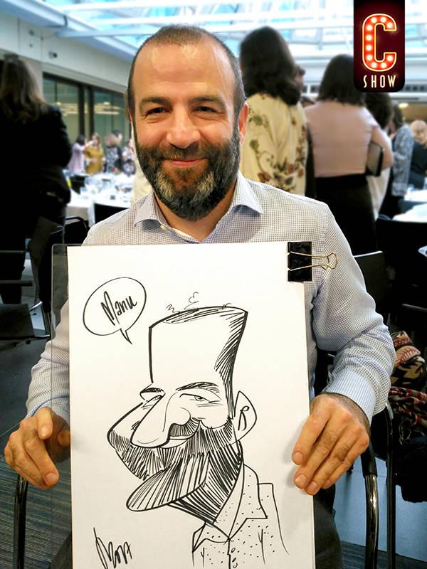 caricaturas en directo evento madrid