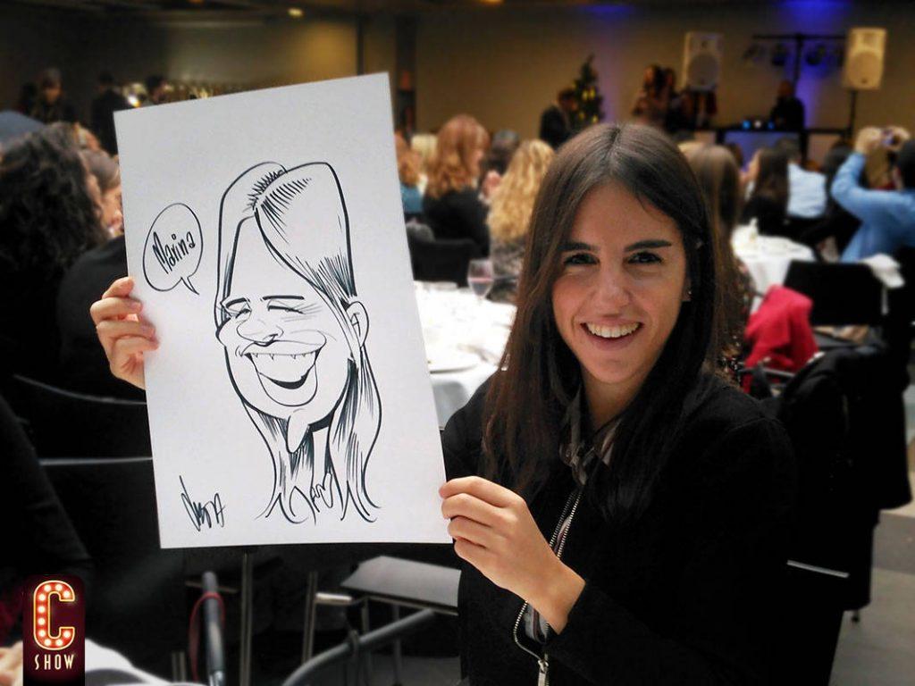 caricaturas en vivo en evento
