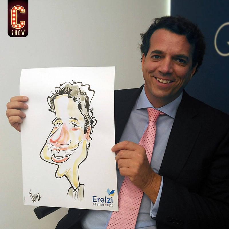 Caricaturas eventos bleisure Madrid