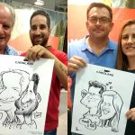 Caricaturas en vivo para team building corporativo