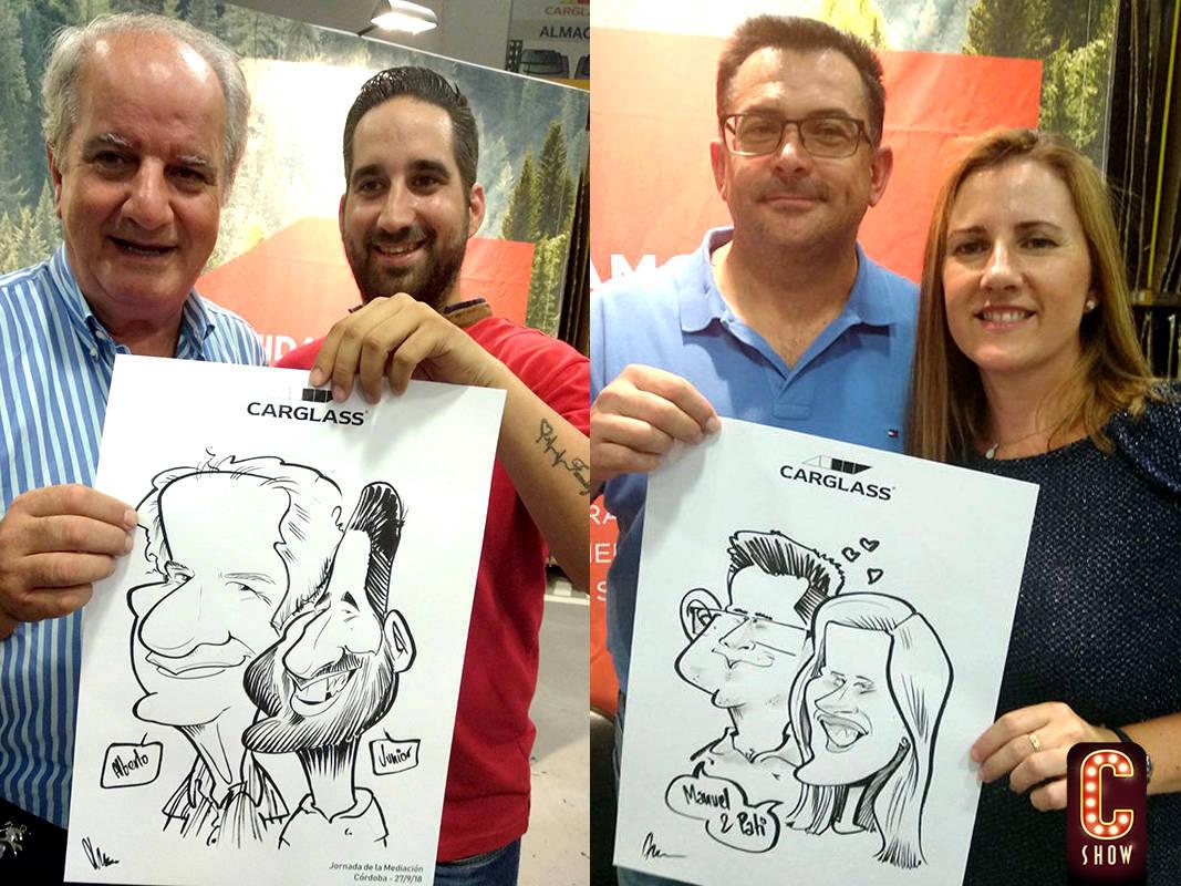Caricaturas en vivo para team building corporativo