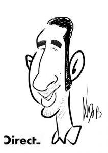digital caricaturist black and white