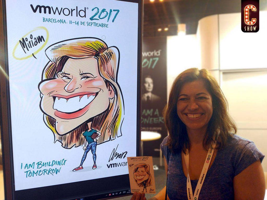 caricaturista digital eventos marketing