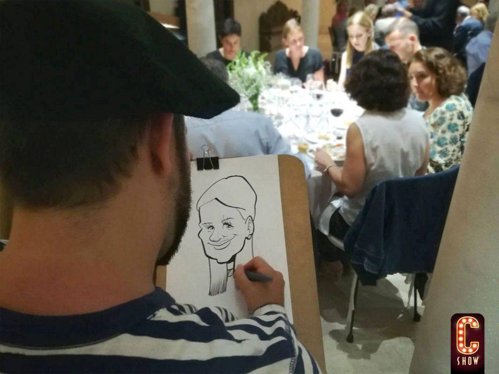 caricaturista en directo