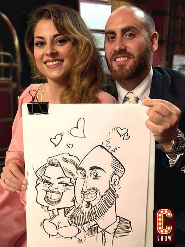 caricaturista en vivo en Granada