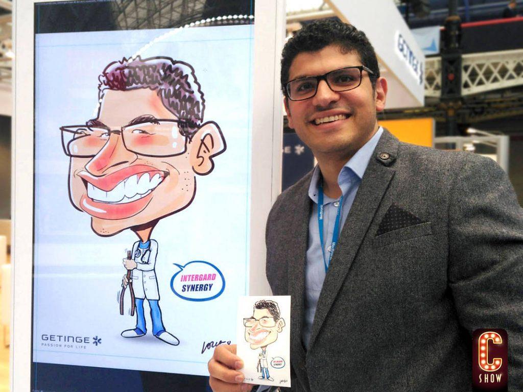 caricaturista ipad evento feria congreso caricatura digital