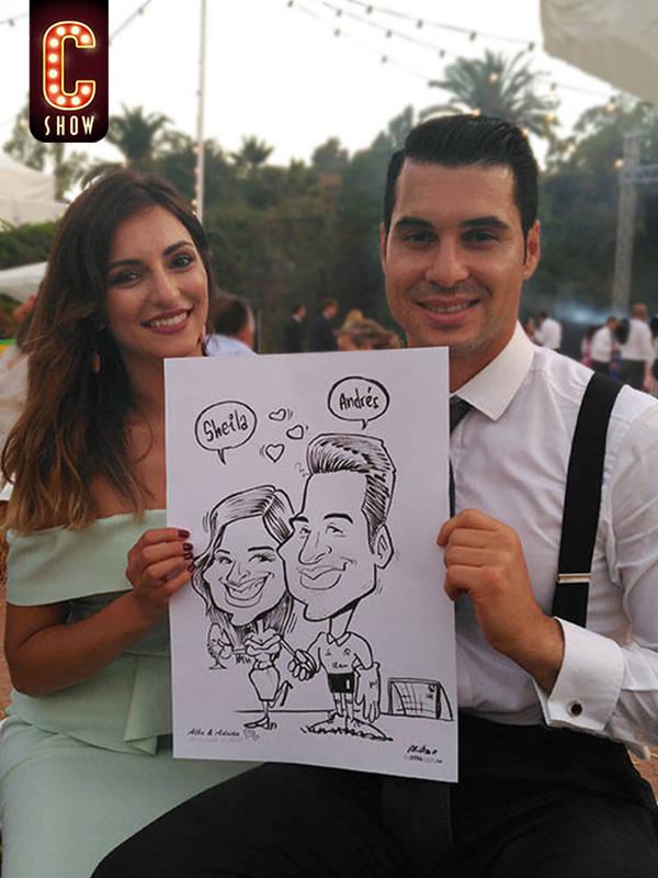 caricaturista en Sevilla