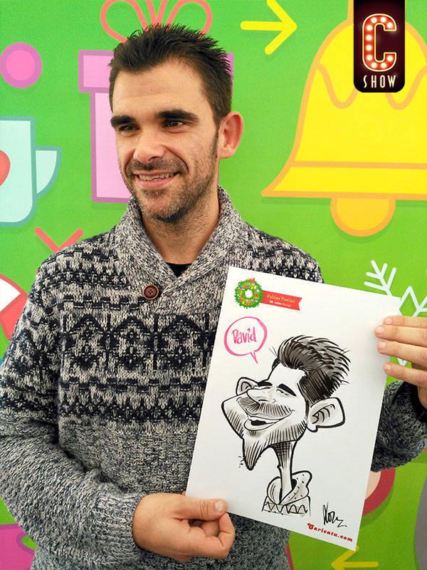 caricaturistas eventos empresa malaga navidad