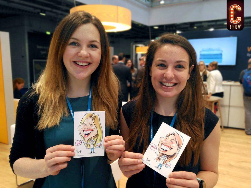 Digital marketing para eventos con caricaturas