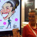 Acción de art marketing con caricatura en Barcelona