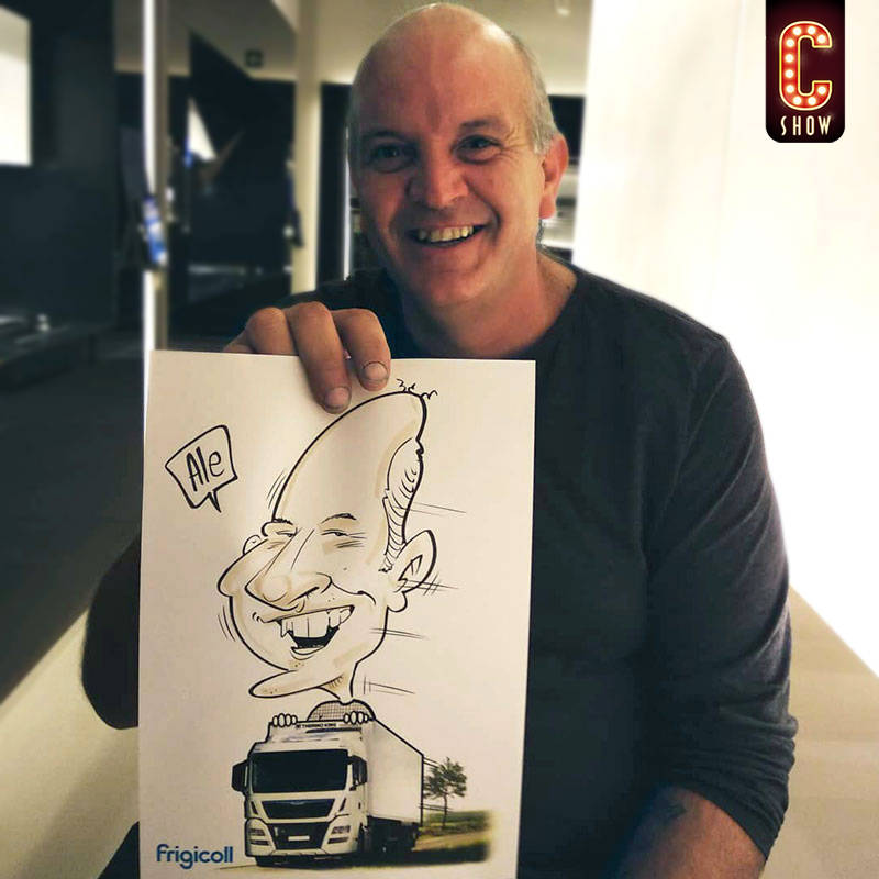 Bleisure event caricature