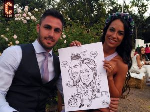 Caricaturas en vivo en evento MICE
