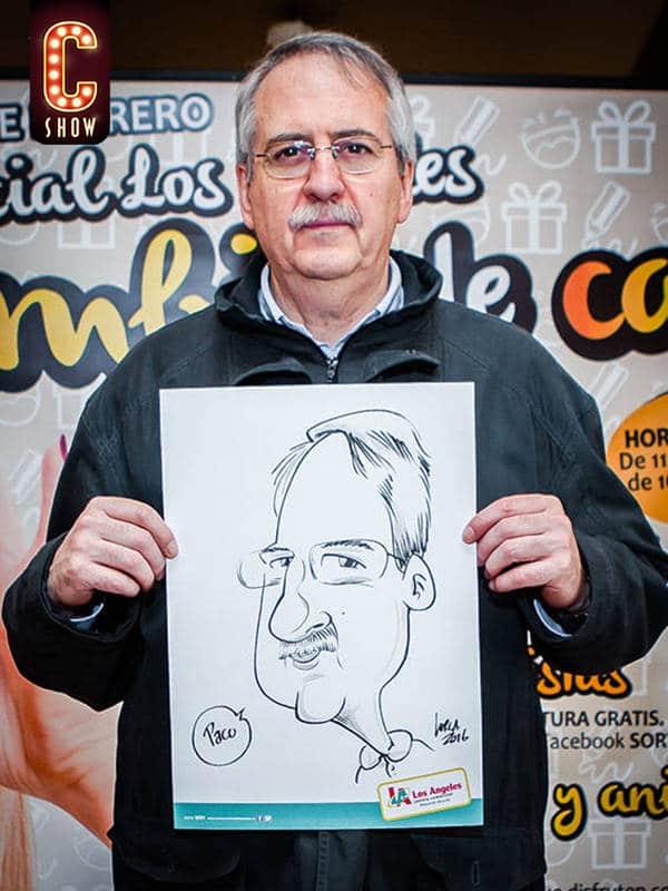 Caricature artist in Vienna