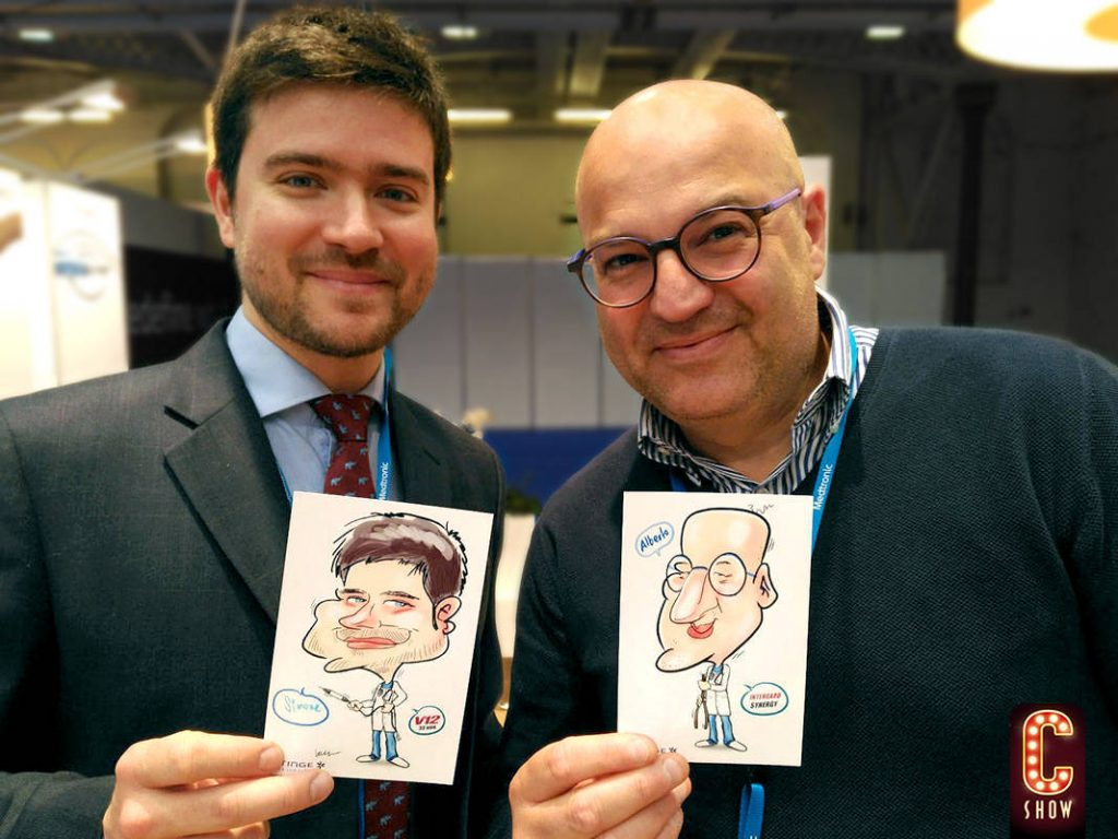 Caricature gifts at event
