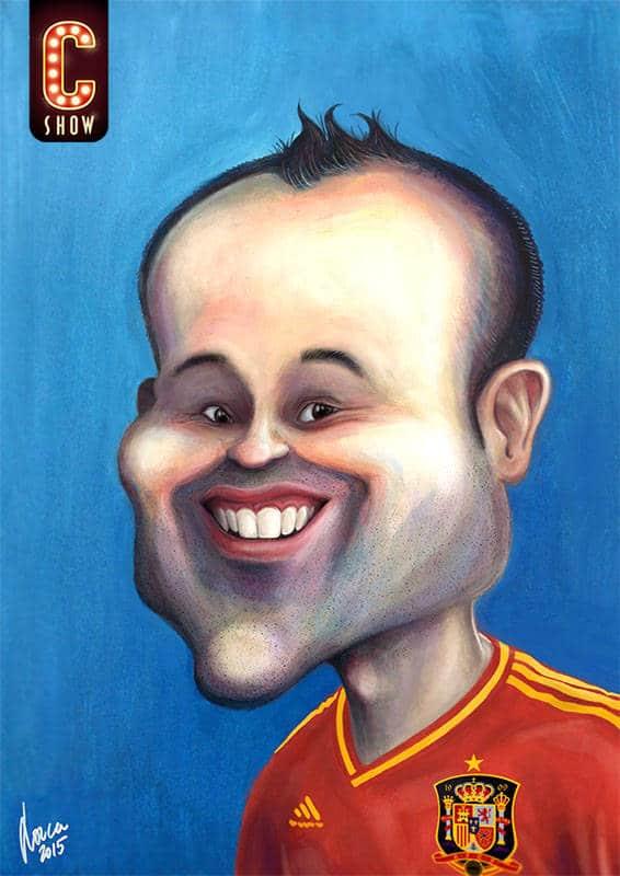 Andres Iniesta caricature