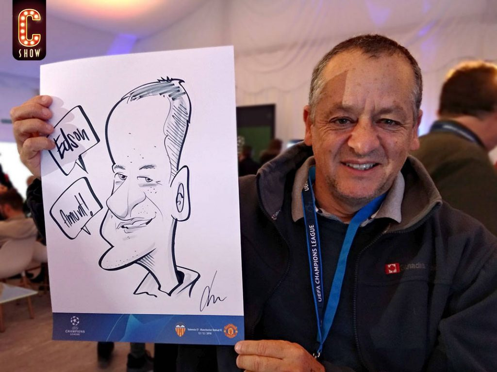Live caricature at Manchester event
