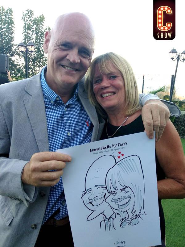 Caricature for Marbella event