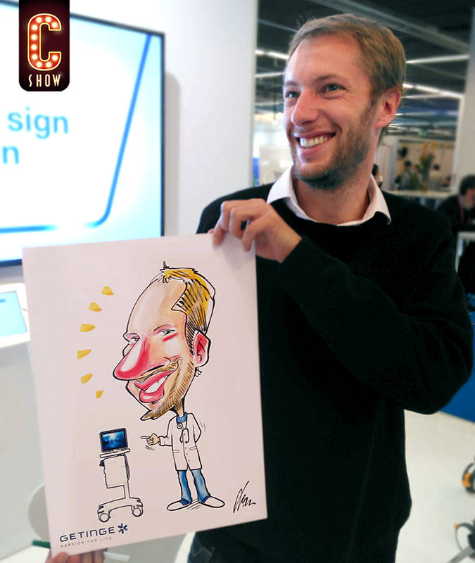 Caricature at MICE event