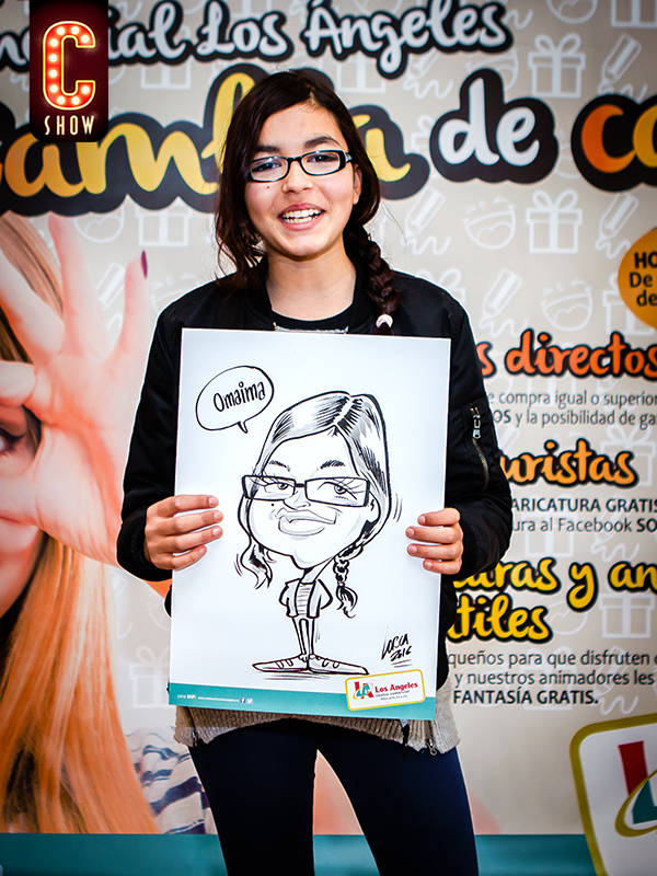 Caricature in shopping centre