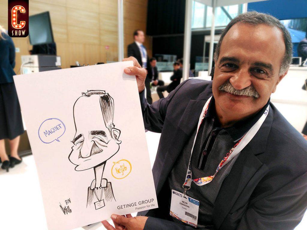 Live caricature at venue