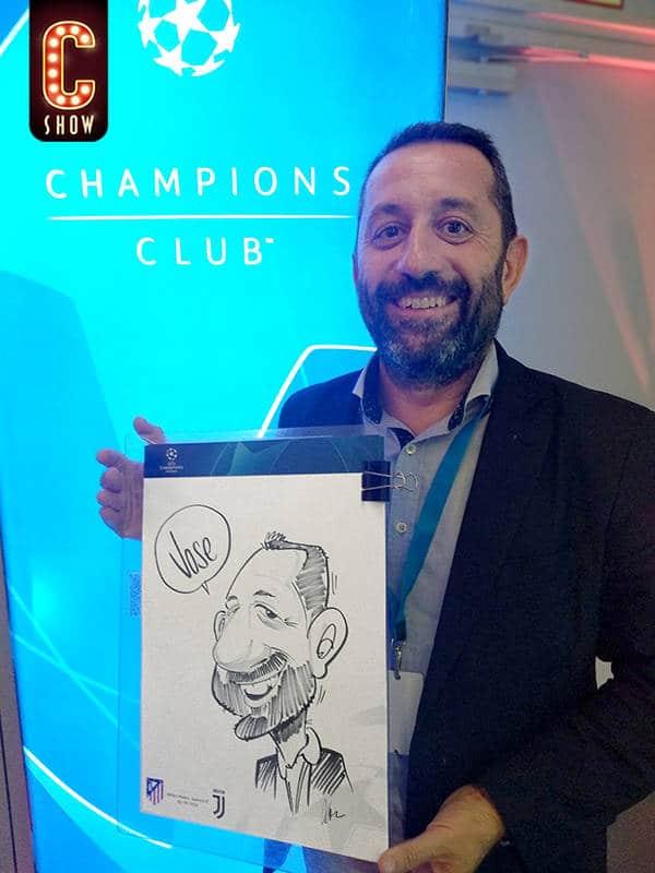 Champions League caricatures