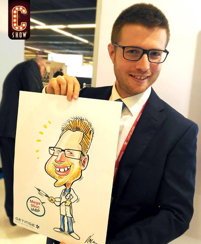 Colour live caricature art