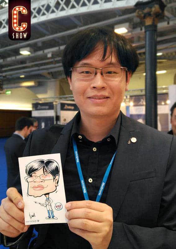 Digital caricature drawing