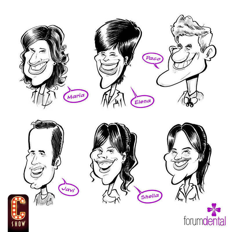 Group caricature for a company