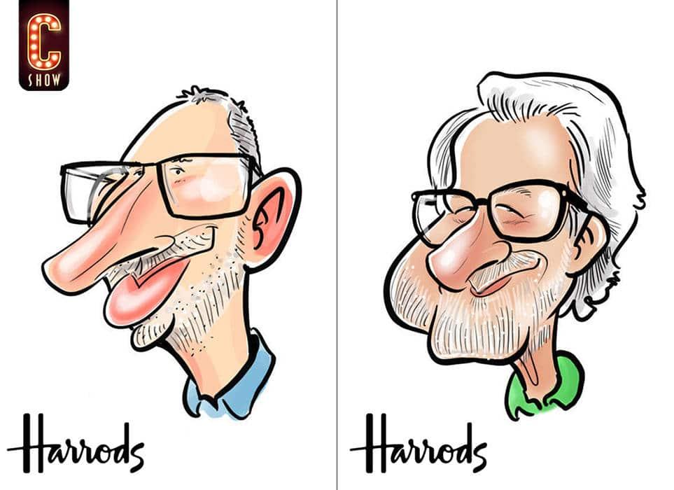 iPad caricatures art