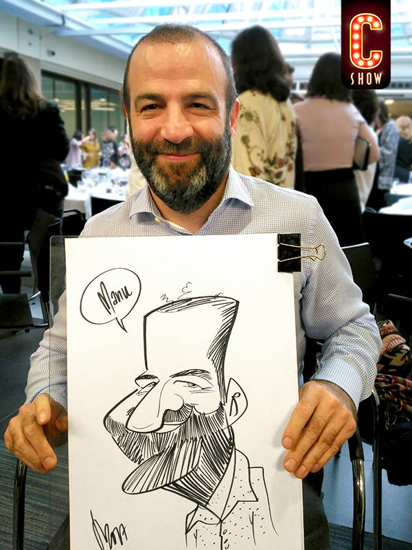 Live caricature in Madrid