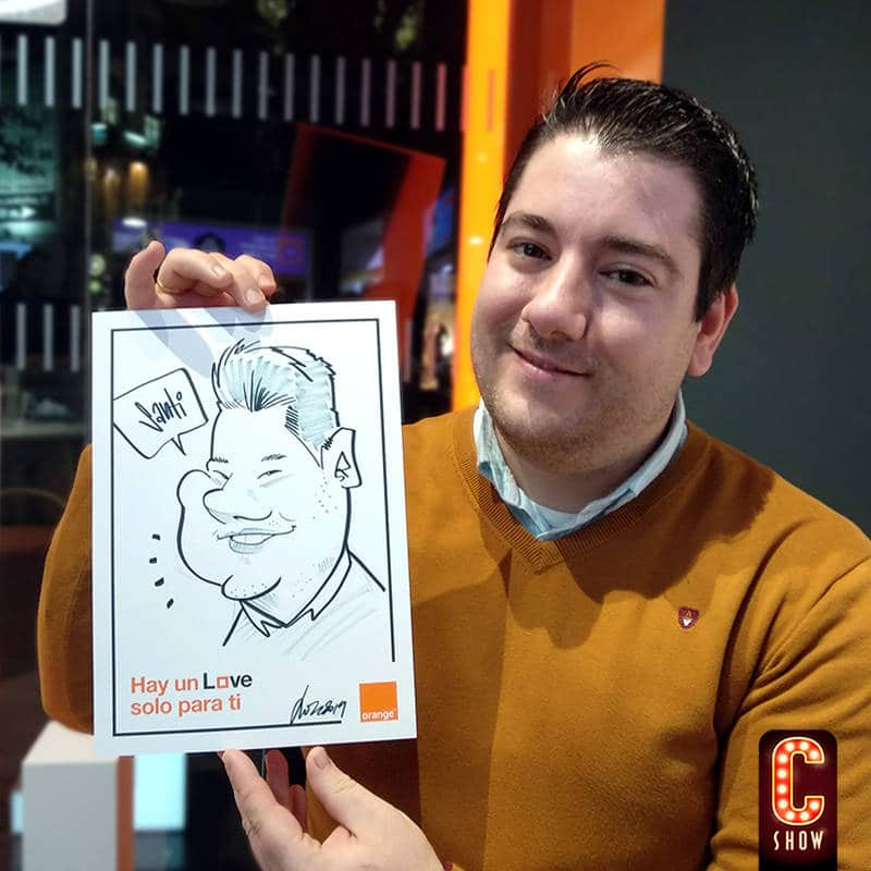 Live caricature for company events