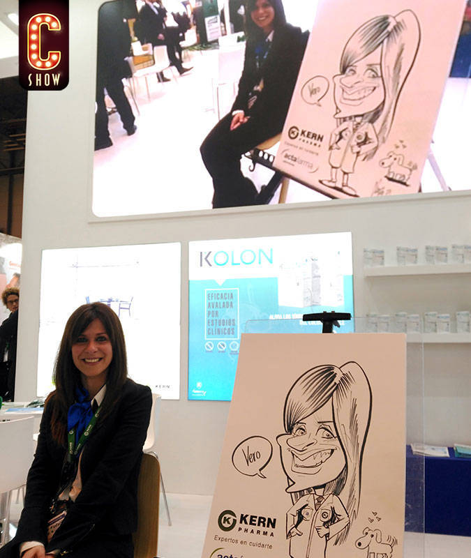 Live caricature for exhibition stand