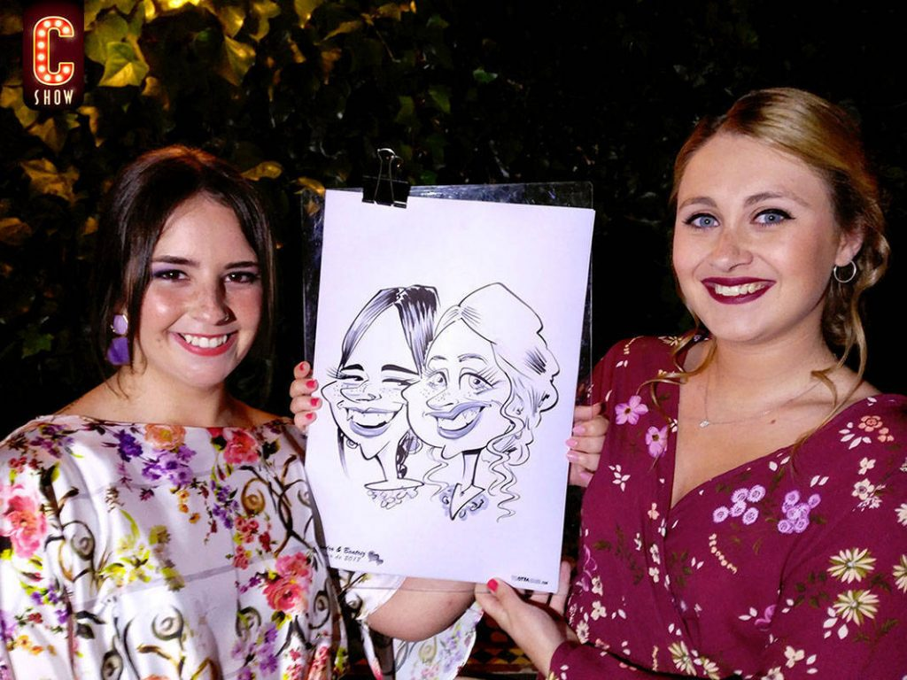 Live caricature in Malaga