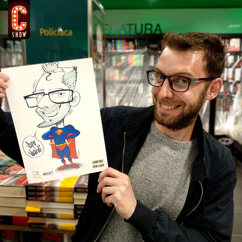Live caricature super man