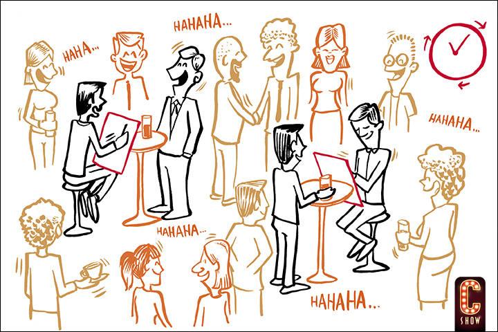 Live caricaturist show