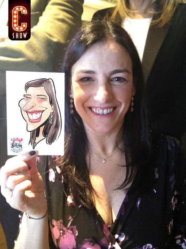 Live digital caricature in colour