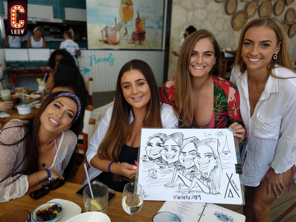 Event marketing with live caricatures
