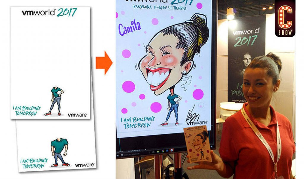 Personalized digital caricature gift