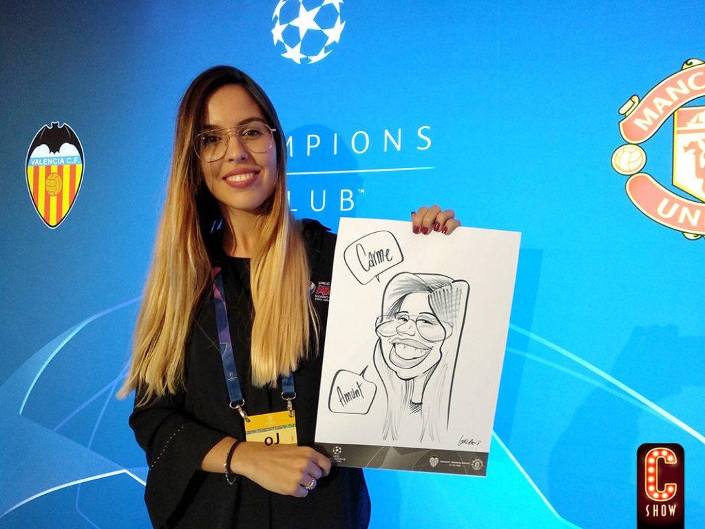 Sport event caricature