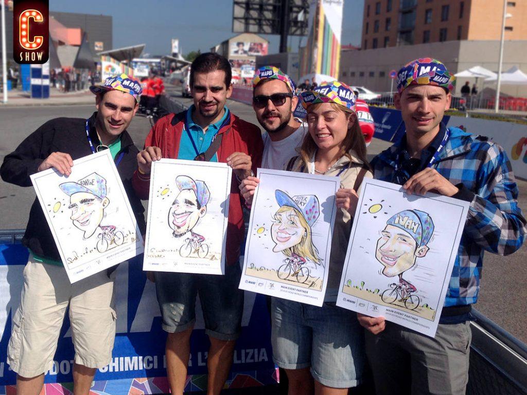 Sport event live caricatures