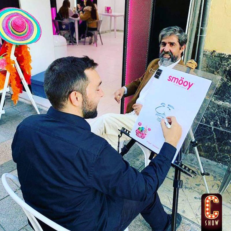 Street caricature artist