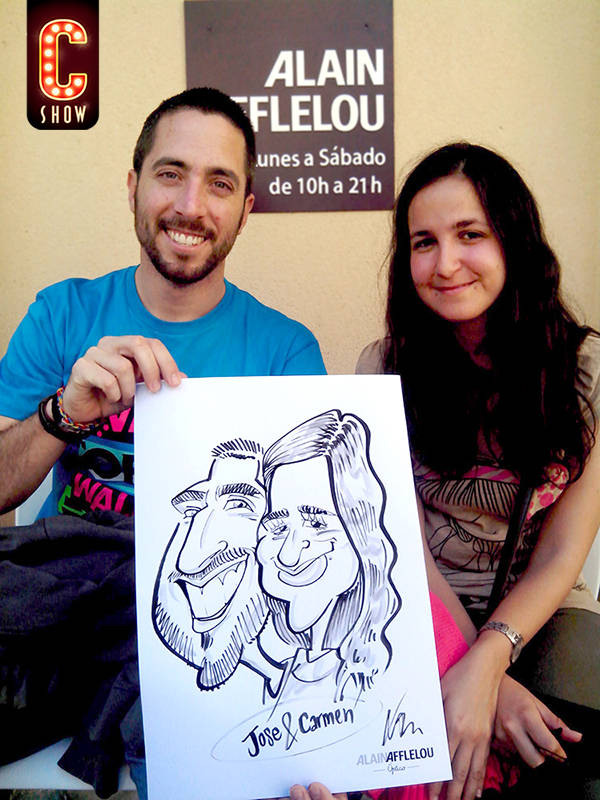 Street live caricature artist